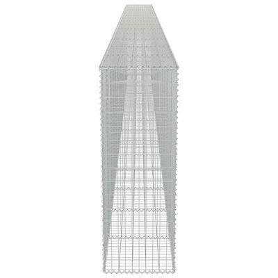 vidaXL Gabionmur i galvaniserat stål 900x50x150 cm,