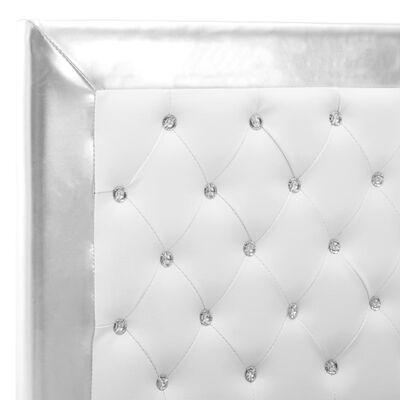 vidaXL Sängram vit konstläder 100x200 cm