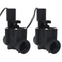 vidaXL Magnetventiler till bevattningssystem 2 st AC 24 V