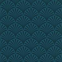 couleurs & matières Tapet 20's Pattern Artdeco blå