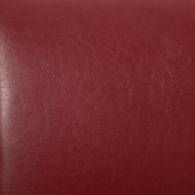 vidaXL Matstolar 2 st vinröd konstläder