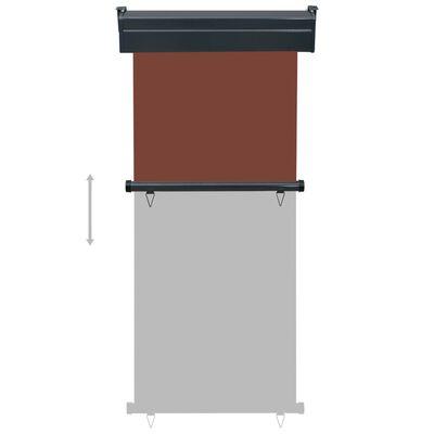 vidaXL Balkongmarkis 80x250 cm brun