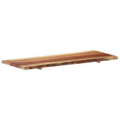 vidaXL Bänkskiva för badrum massivt akaciaträ 140x55x3,8 cm