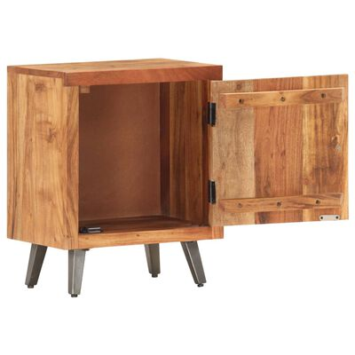 vidaXL Sängbord 40x30x50 cm massivt akaciaträ