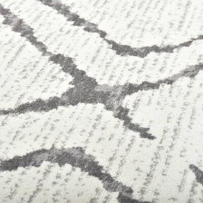 vidaXL Matta gräddvit och grå 140x200 cm PP
