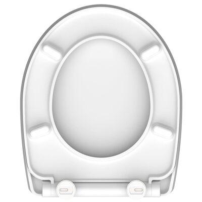 SCHÜTTE Toalettsits med mjuk stängning snabbfäste högglans ROUND DIPS