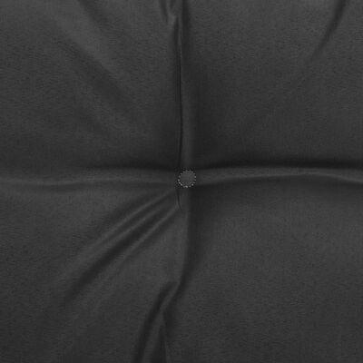 vidaXL Mittensoffa med antracitgrå dynor massiv furu
