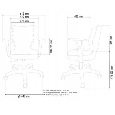 Entelo Good Chair Skrivbordsstol för barn Duo JS03 storlek 6 grå/vit