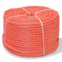 vidaXL Tvinnat rep i polypropylen 12 mm 250 m orange