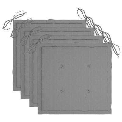 vidaXL Regissörsstolar med dynor 4 st massivt akaciaträ