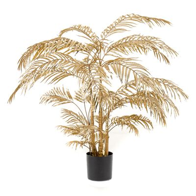 Emerald Konstväxt Areca-palmträd 145 cm guld