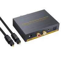 Digital till analog konverter - 2 Toslink/2 koaxial till RCA R/L+3.5mm
