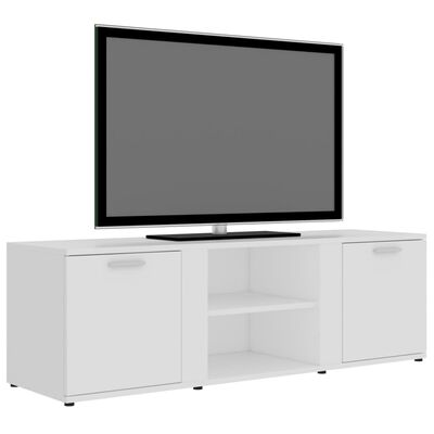 vidaXL TV-bänk vit 120x34x37 cm spånskiva