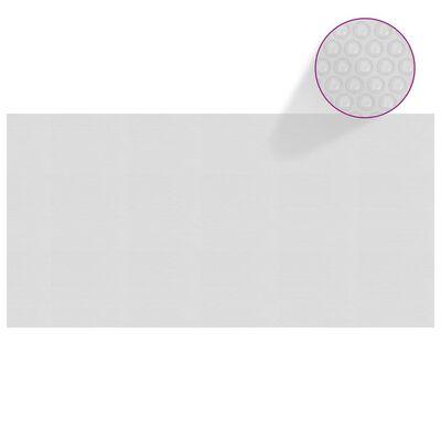 vidaXL Värmeduk för pool PE 975x488 cm grå