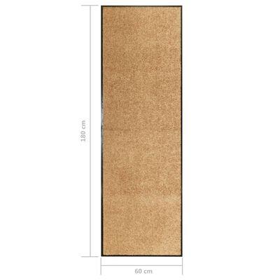 vidaXL Dörrmatta tvättbar gräddvit 60x180 cm