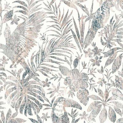 DUTCH WALLCOVERINGS Tapet blad och tukan beige