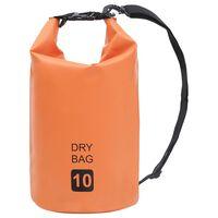 vidaXL Vattentät packpåse orange 10 L PVC