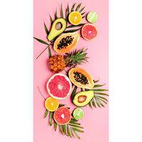 Good Morning Badlakan PINK FRUITS 75x150 cm rosa