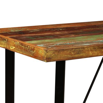 vidaXL Barmöbler 5 delar massivt återvunnet trä och äkta läder