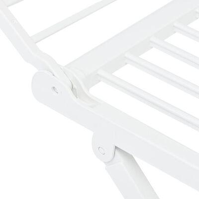 vidaXL Hopfällbar torkställning vit plast