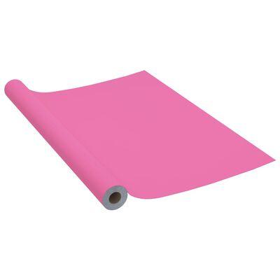 vidaXL Dekorplast rosa högglans 500x90 cm PVC,