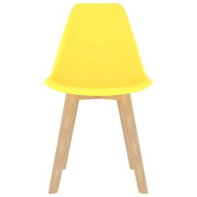 vidaXL Matstolar 4 st gul plast
