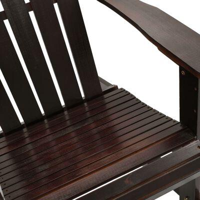 vidaXL Gungstol för trädgården trä brun