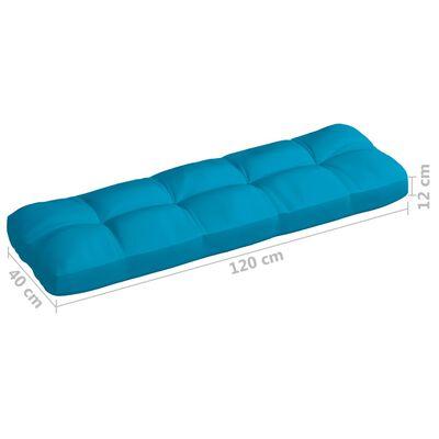 vidaXL Dyna till pallsoffa blå 120x40x12 cm