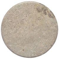 vidaXL Bordsskiva grå Ø60x2,5 cm marmor