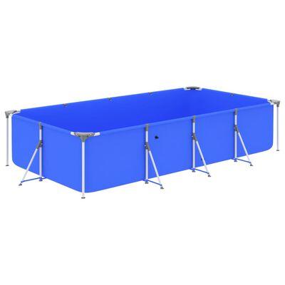 vidaXL Pool med stålram 394x207x80 cm blå