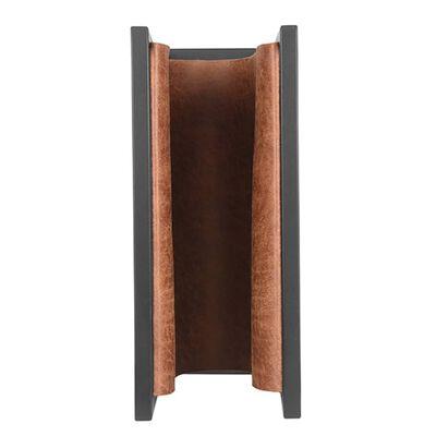 LABEL Tidningsställ 45x20x38 cm konjaksbrun