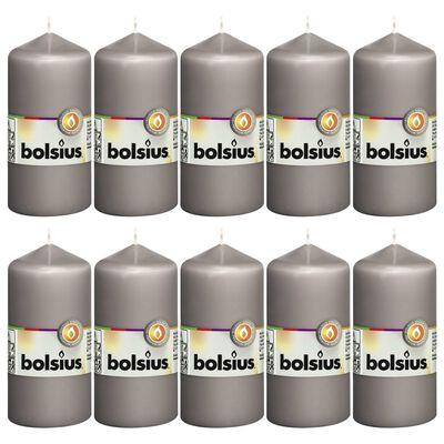 Bolsius Blockljus 10 st 120x58 mm varm grå