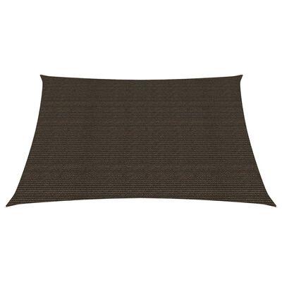 vidaXL Solsegel 160 g/m² brun 7x7 m HDPE