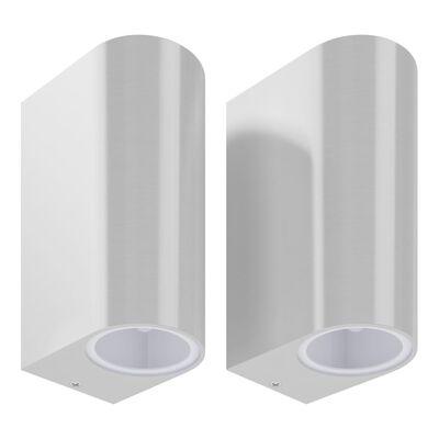 vidaXL Up- and downlight-vägglampor 2 st
