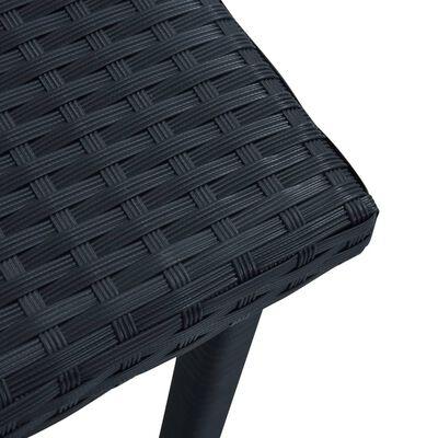 vidaXL Trädgårdsbord svart 40x40x40 cm konstrotting, Svart
