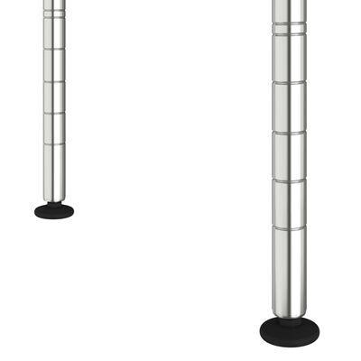 vidaXL Hylla för mikrovågsugn 2 våningar 60x30x60 cm förkromat järn
