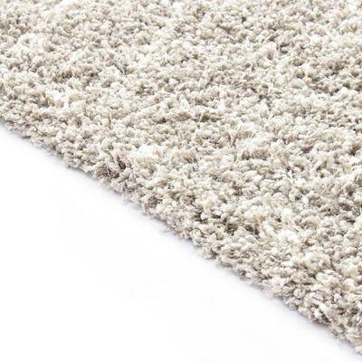 vidaXL Berbermatta långhårig PP sand och beige 160x230 cm