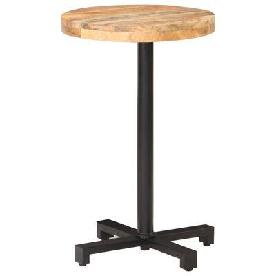 vidaXL Cafébord runt Ø50x75 cm grovt mangoträ