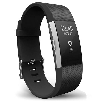 Armband till Fitbit Charge 2 - Svart - S