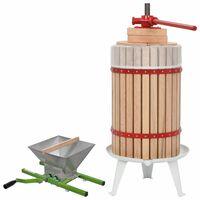 vidaXL Frukt- och vinpress 2 delar set