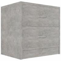 vidaXL Sängbord betonggrå 40x30x40 cm spånskiva