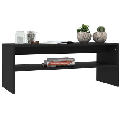 vidaXL Soffbord svart 100x40x40 cm spånskiva