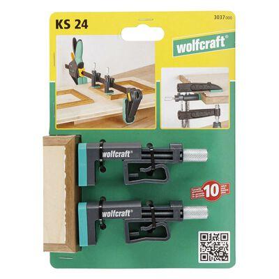 wolfcraft Bordsklämmor KS 24 2 delar 3037000