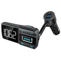 Fm-sändare Med Bluetooth-handsfree & Dubbla Usb-portar