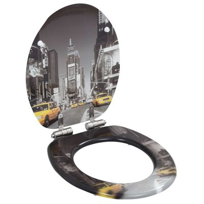 vidaXL Toalettsitsar med mjuk stängning 2 st MDF New York