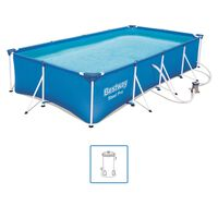 Bestway Pool Steel Pro rektangulär 400x211x81 cm 56424