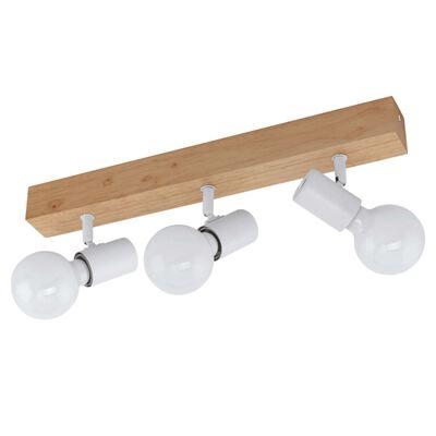 EGLO LED spotlight Townshend 3 3 lampor trä beige och vit