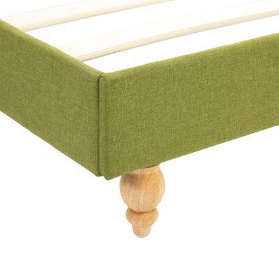 vidaXL Säng med madrass grön tyg 120x200 cm