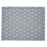 Jollein Matta för lekhage regnbåge 75x95 cm grå