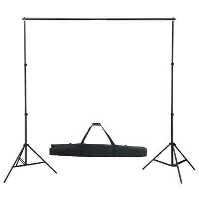 vidaXL Fotostudio med softbox-lampor och bakgrund